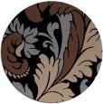 rug #601337 | round black damask rug