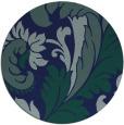 rug #601353   round blue damask rug