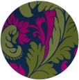 rug #601357 | round green damask rug