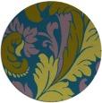 rug #601381 | round green damask rug