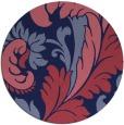 rug #601413   round pink damask rug