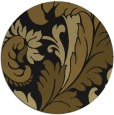 rug #601437 | round mid-brown damask rug