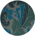 rug #601449 | round green damask rug
