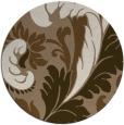 rug #601473 | round beige damask rug