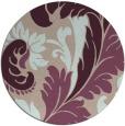 rug #601477 | round pink damask rug