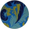 rug #601489   round blue damask rug