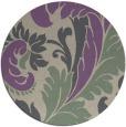 rug #601501   round purple damask rug