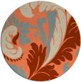 rug #601517 | round beige damask rug