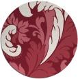 rug #601533 | round pink damask rug