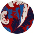 rug #601561 | round red damask rug