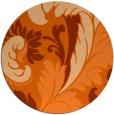 rug #601581   round red-orange rug