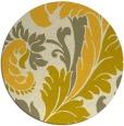 rug #601609 | round yellow damask rug