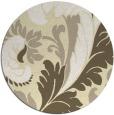 rug #601613   round yellow damask rug