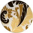 rug #601617 | round brown damask rug