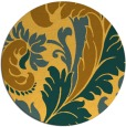rug #601625 | round light-orange damask rug