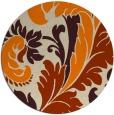 rug #601637   round orange damask rug