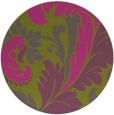 rug #601649 | round light-green rug