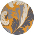 rug #601669 | round light-orange damask rug