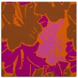 rug #602289 | square red-orange abstract rug