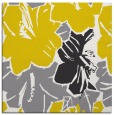 rug #602325 | square yellow graphic rug