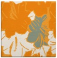 rug #602369 | square light-orange graphic rug