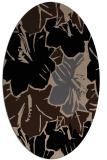 rug #602389 | oval beige abstract rug