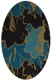 rug #602397 | oval brown graphic rug