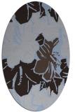 rug #602489 | oval blue-violet popular rug