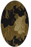 rug #602493 | oval mid-brown rug