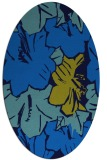 rug #602545   oval blue graphic rug