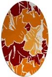 rug #602569   oval orange graphic rug