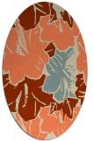 rug #602573   oval orange graphic rug