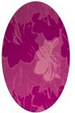 rug #602585 | oval pink natural rug