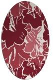 rug #602589 | oval pink graphic rug