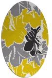 rug #602677   oval yellow abstract rug