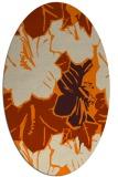 rug #602693   oval orange natural rug