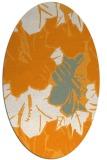 rug #602721 | oval light-orange graphic rug