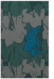 rug #602857    blue-green abstract rug