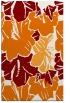 rug #602921 |  orange graphic rug