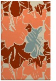 rug #602925 |  orange abstract rug
