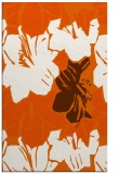 rug #602997 |  red-orange abstract rug