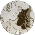rug #603081 | round white abstract rug