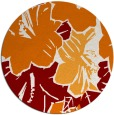 rug #603273 | round orange popular rug