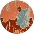 rug #603277 | round orange abstract rug