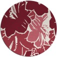 rug #603293 | round pink abstract rug
