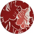 rug #603329 | round red rug