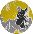 rug #603381 | round yellow abstract rug