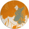 rug #603425 | round light-orange graphic rug