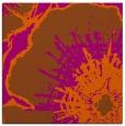 rug #609329 | square red-orange graphic rug