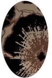 rug #609433   oval black graphic rug